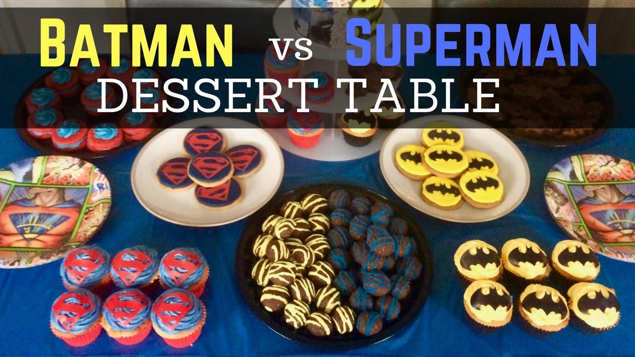 Superhero Cake Dessert Table Kids Party Treats Youtube