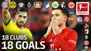 18 Clubs 18 Goals The Best Goal by Every Bundesliga Team in 2019 20
