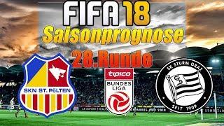 FIFA 18 Saisonprognose: Runde 28📌 : ⚽️Skn St. Pölten vs Sturm Graz⚽️ 31.3.2018