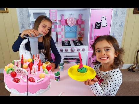 Thumbnail: Toy Cutting / Kids Pink Kitchen / Pretend Food Playtime