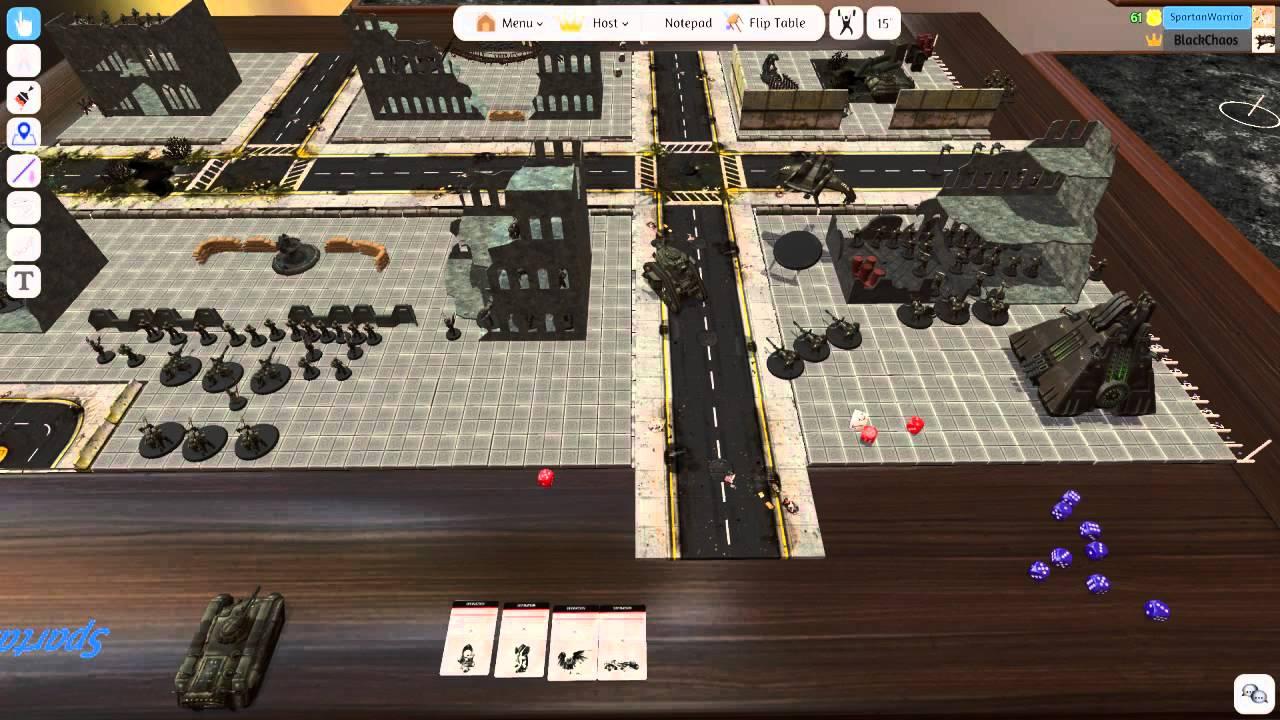 Tabletop Simulator - Warhammer 40k - Astra Militarum V S  Necron - 2k Pts
