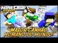 Minecraft: MAIOR CANHÃO HUMANO DO MUNDO! (SKYWARS)