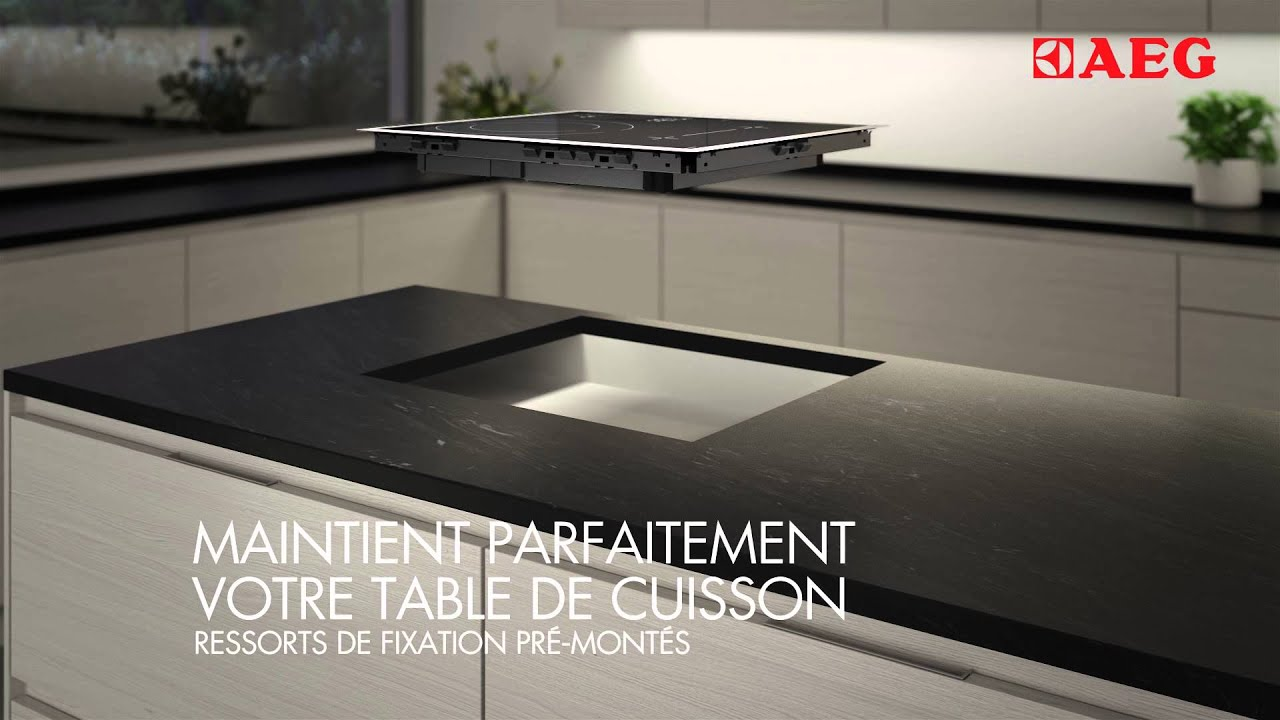 Installer une table induction gr ce au syst me optifix d for Plaque de verre pour table