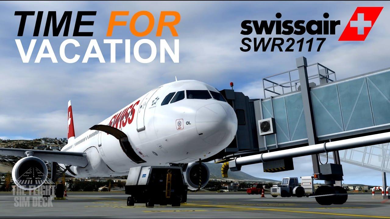 Prepar3D   Time For Vacation   LEMG to LSZH   Aerosoft A321 - The