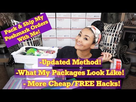 How I Pack and Ship Poshmark Orders + More Cheap/FREE Hacks (UPDATED METHOD)