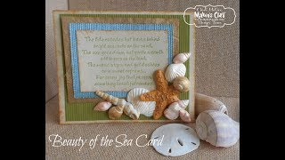 Beauty of the Sea Handmade Card with Polymer Clay Accents - Makin