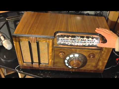 Rogers Majestic 7M632 Vacuum Tube Radio Video #30 - Final in Cabinet Test