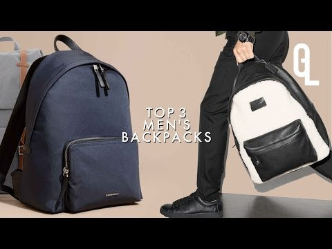 TOP 3 MEN'S BACKPACKS: BURBERRY, COACH, HERSCHEL | Georgeous