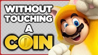 Is it possible to beat the SECRET LEVELS in Super Mario 3D World without touching a single coin?