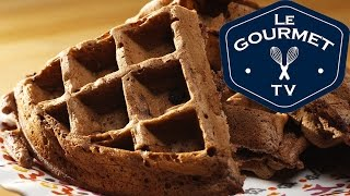 Chocolate Chocolate Chip Waffles Recipe - Legourmettv