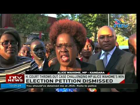 High court throws out case challenging MP Alice Wahome's win