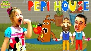 ОЧЕНЬ ВЕСЕЛАЯ Семейная игра как мультик Pepi House. Развлекательное видео про Пепи Хаус для детей