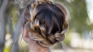 Pull Thru Crown Braid | Updo | Cute Girls Hairstyles