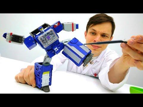 ТРАНСФОРМЕРЫ Крутая сборка робота! #ИгрыДляМальчиков Больничка #ДокторОй Роботы