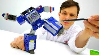 Крутая сборка робота трансформера. Видео для мальчиков