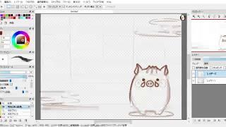 イノシシのイラストを描いてみました。 使用したソフトはFireAlpacaです...