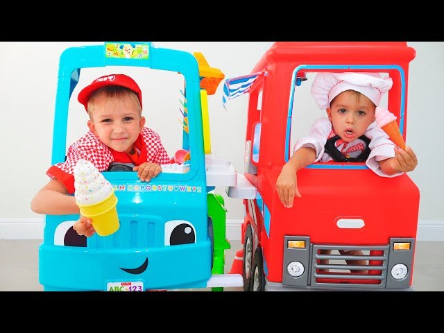 Kids and Mom Pretend Play Toy Cafe | Compilation video with Vlad and Nikita