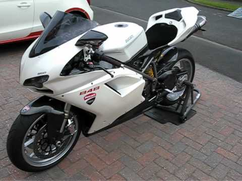 Ducati 848 with Sil Moto Exhaust - YouTube