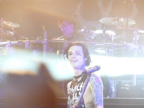 Black Veil Brides lets fanme play the drums  Knives and pensKazan city, Russia