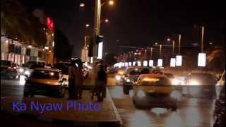 Palm Strip Center Night View ( Jumeirah Road )