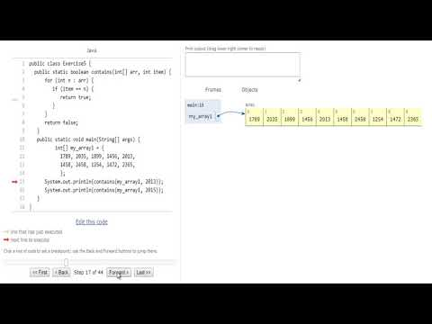 Java exercises: Test if an array contains a specific value