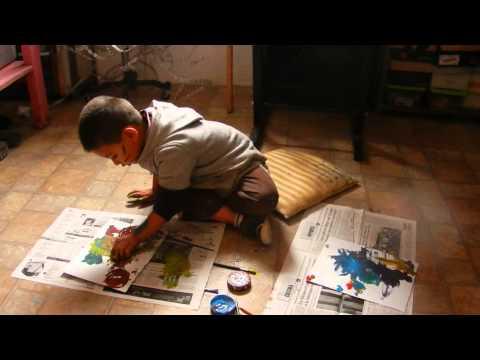 Pintura infantil en acción