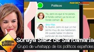 El grupo de Whatsapp de los políticos españoles - El Hormiguero 3.0