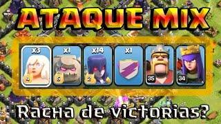 ATAQUE MIX: GOLEM, SANADORAS Y BRUJAS - MAX - A por todas con Clash of Clans - Español - CoC