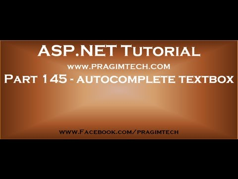 Part 145   Implementing autocomplete textbox in asp net web