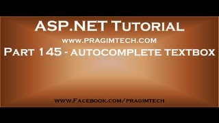 Part 145   Implementing autocomplete textbox in asp net web forms