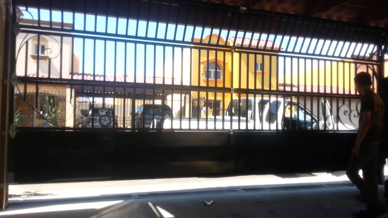 Construcci n de puerta el ctrica para cochera youtube - Puertas de cochera ...