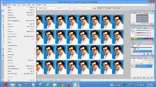 How to print passport size photo in A4 photo paper (20 copies)