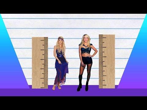 How Much Taller? - Shakira vs Ellie Goulding!