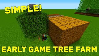 EASY Early Game Tree Farm - Logs and Wood! 1.16+ | Best, Easy Minecraft Farms