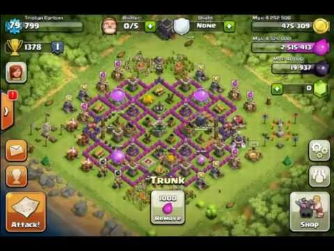 Clash of Clans Best Town Hall 9 Farming Base Design - YouTube