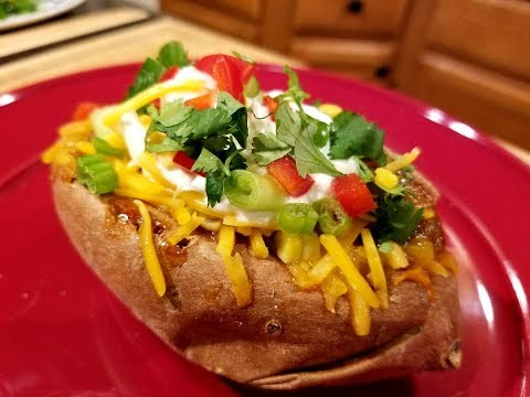 Chilli Stuffed Sweet Potato!