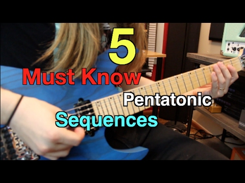 5 Must Know Pentatonic Sequences ( With Tabs!!)
