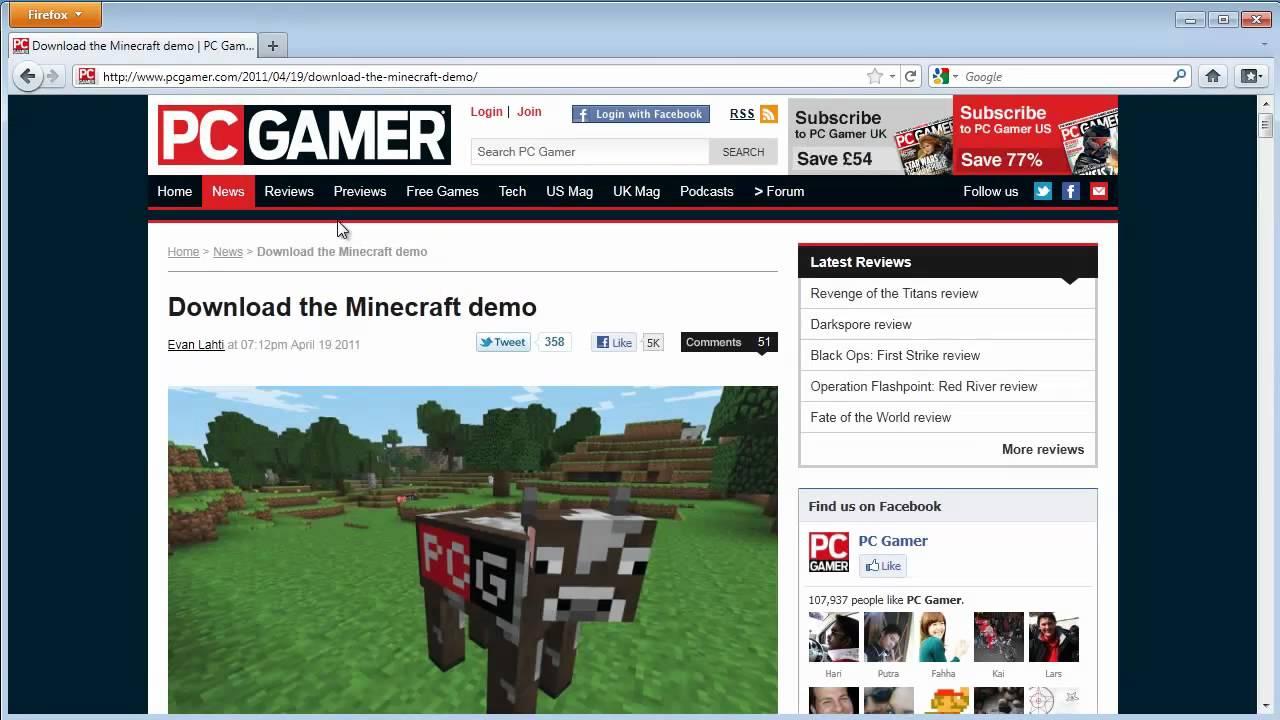 download minecraft demo free pc gamer