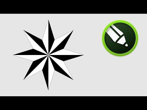 Octagram Star Design In Coreldraw