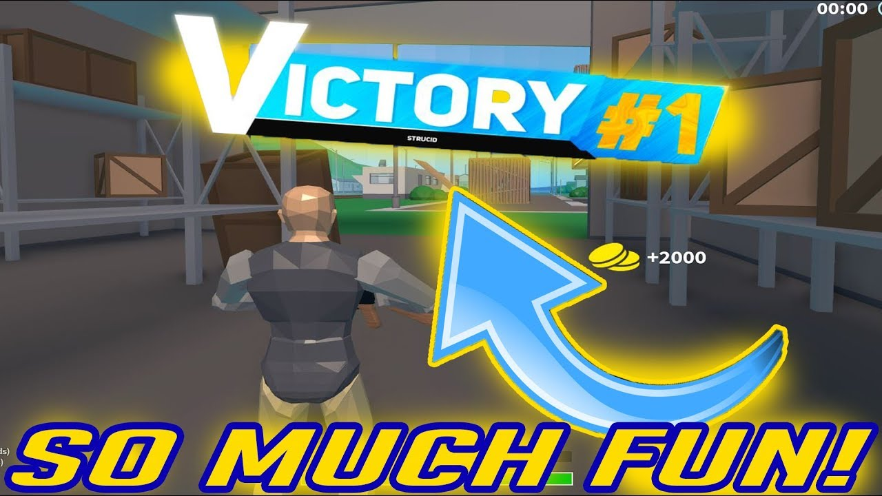 FIRST WIN ON ROBLOX STRUCID BATTLE ROYALE + HOW TO PLAY ...