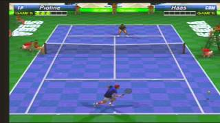 Sega Sports Tennis Pioline vs Haas