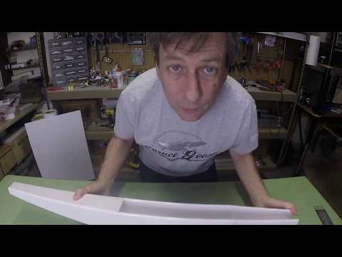 Gluing Foam Board Fuselages for RC Airplanes