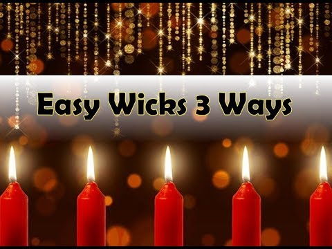 3 Candle Wicks You Can Make Yourself (Fool Proof)