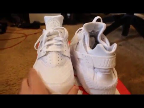 4de3f1ac455b Aliexpress - Replica Nike Air Huarache Triple White Review - YouTube