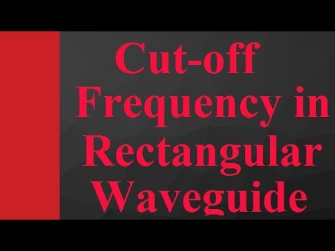 Cut-off frequency in rectangular waveguide in Microwave Engineering by Engineering Funda