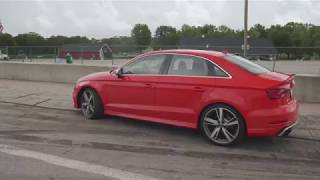 homepage tile video photo for Audi RS3 at Lightning Lap 2018