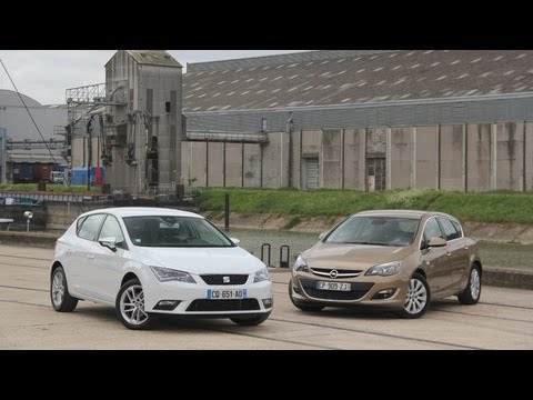 comparatif seat leon vs opel astra youtube. Black Bedroom Furniture Sets. Home Design Ideas