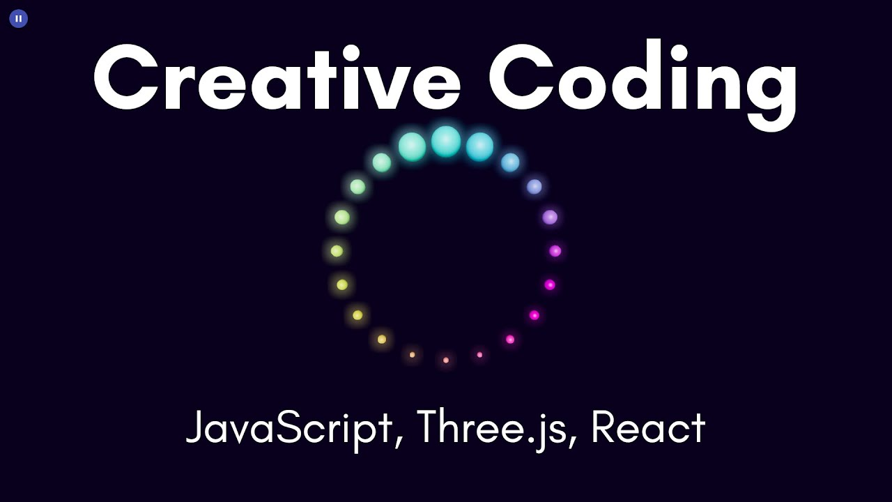 Creative Coding Time Lapse | Rainbow Audio Visualizer | JavaScript, Three.js, React