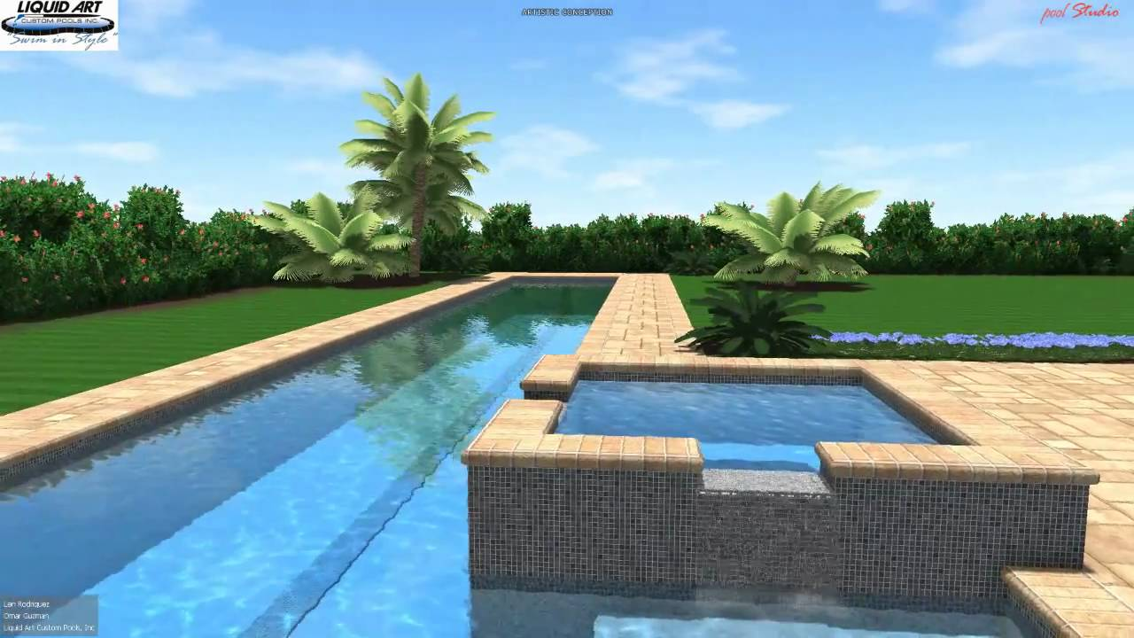 pool lap with spa interactive swimming pool presentation youtube. Black Bedroom Furniture Sets. Home Design Ideas