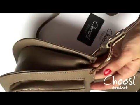 Кожаная сумка Chloe кофейного оттенка — Choosl